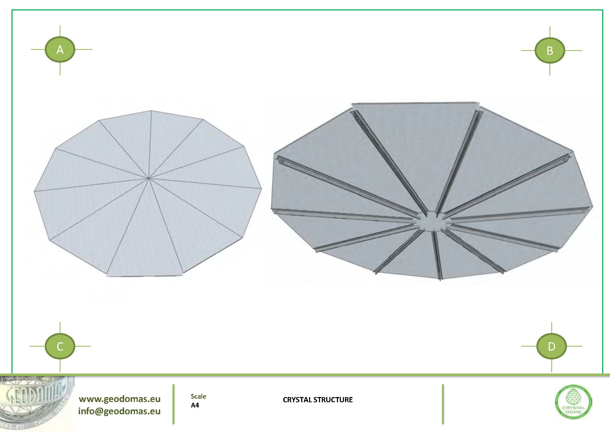 Crystal Dome lengvų konstrukcijų nameliai | Kupolas