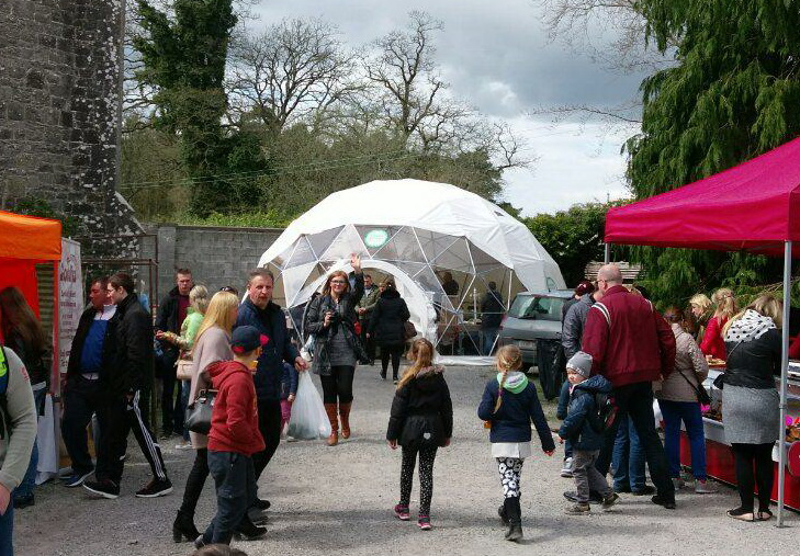 Portable dome Ø8m for Charleville Castle event, Tullamore, Ireland