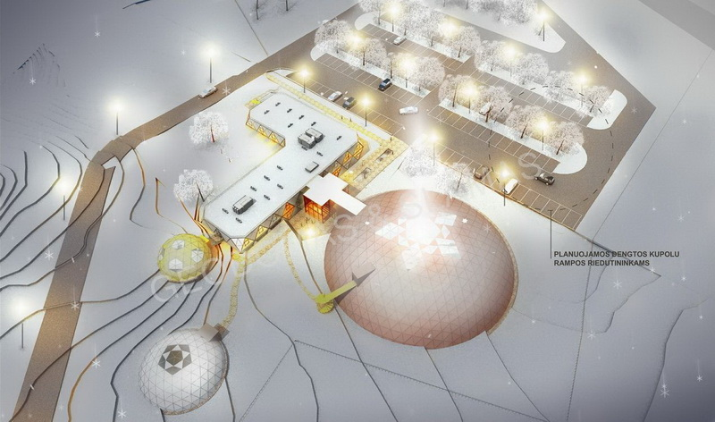 Futuristic Architecture Hotel & SPA Complex 5☆ | Geodesic Domes Business Area 3634m2