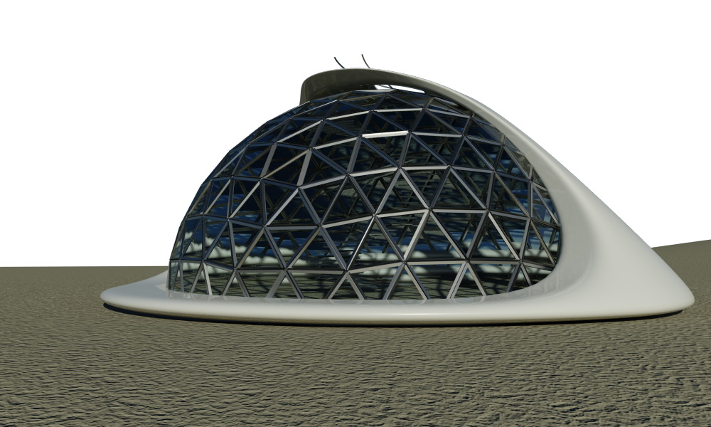 Geodesic Domes Portable Bungalow Office Ø6m 28m2 | For Public Use