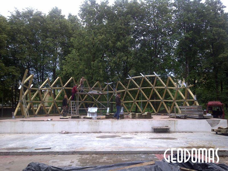 Stacionari Parko Scena-Estrada kupolas Ø15m – Šalčininkai