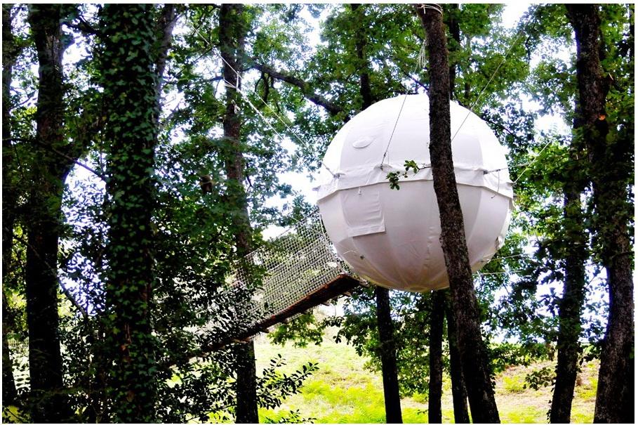Glamping namelis medžiuose | Ekstremalių pojūčių megėjams