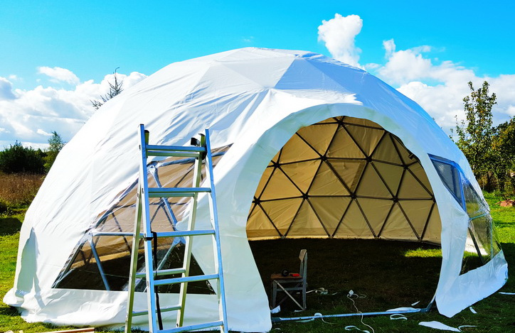 Geodesic Bungalow Dome 50m2 Ø8m Coomleagh, Ireland