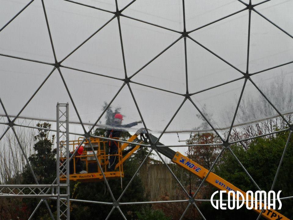 Ø28m H14m Skaidrus Paviljonas kupolas  NISSAN JUKE prezentacijai