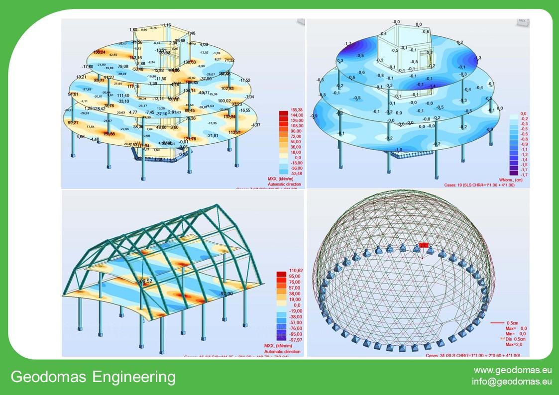A+ klasės geometrinių formų biurų pastatų kompleksas 3000m2  | 200 darbo vietų Kupolai