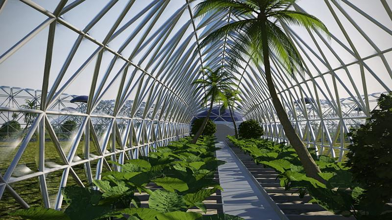 Pramoniniai šiltnamiai ekologiškų produktų arba augalų auginimui