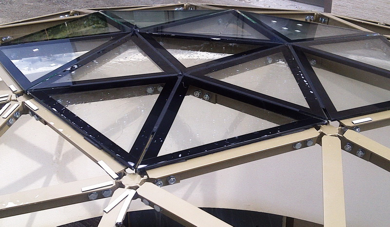 Geodesic Dome Ø6m Roof Deck Window- LOW Height Structure