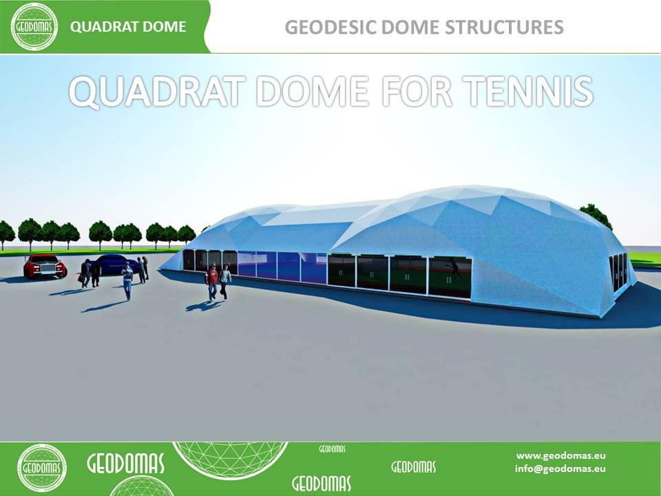 QUADRATDOME Teniso aikštelės stoginė | Kupolas