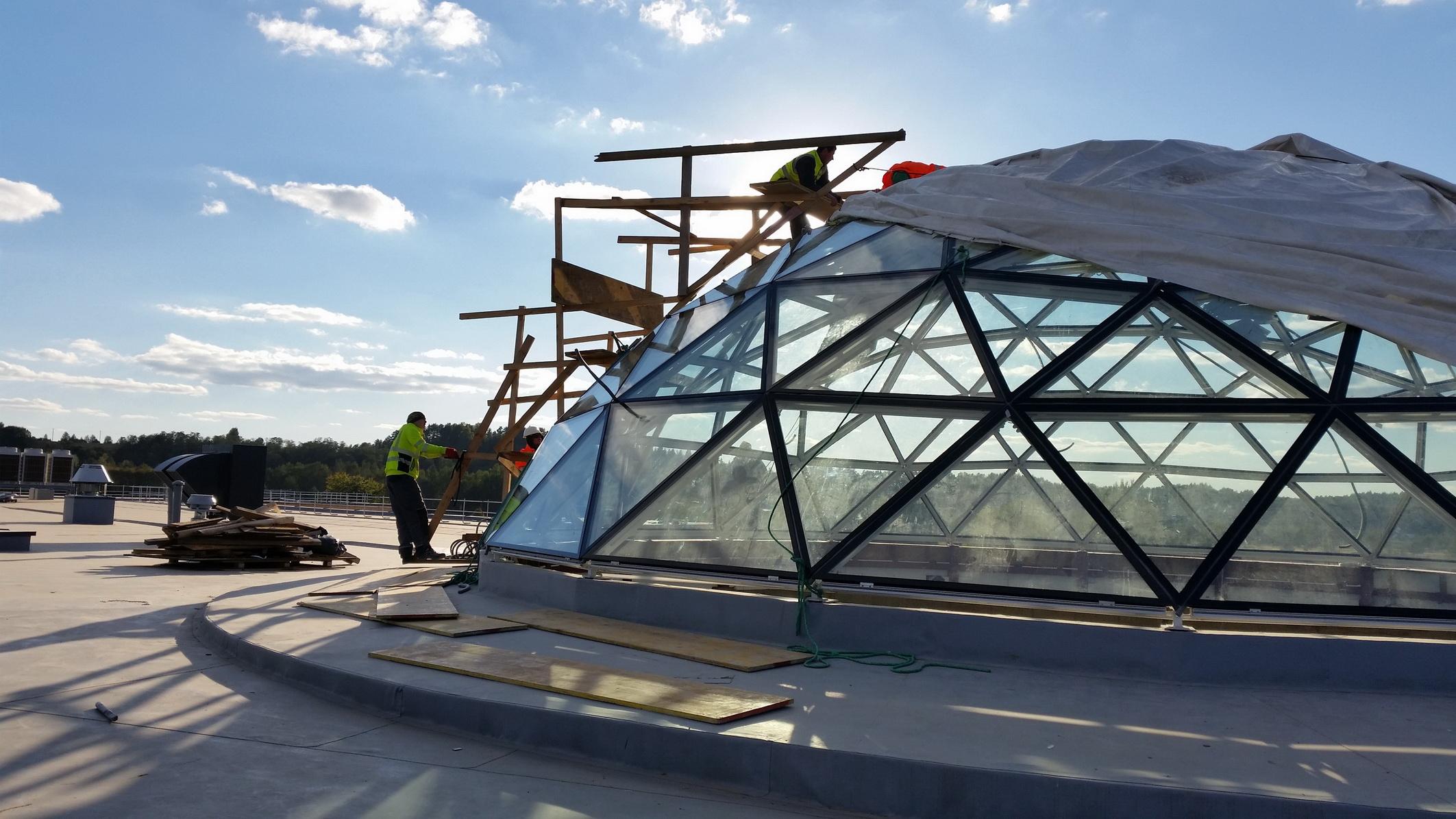 Vytautas Mineral SPA stogo stiklinis kupolas