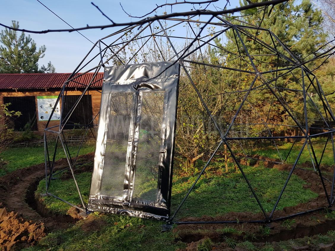 Ø6-Ø7-Ø30m Kupolai laukinių paukščių reabilitacijos centrui | Bukwałd, Lenkija