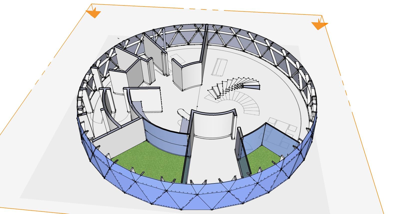 Apvalūs Namas Kupolas Gyvenamasis A+15m skersmens Maišagalos raj.
