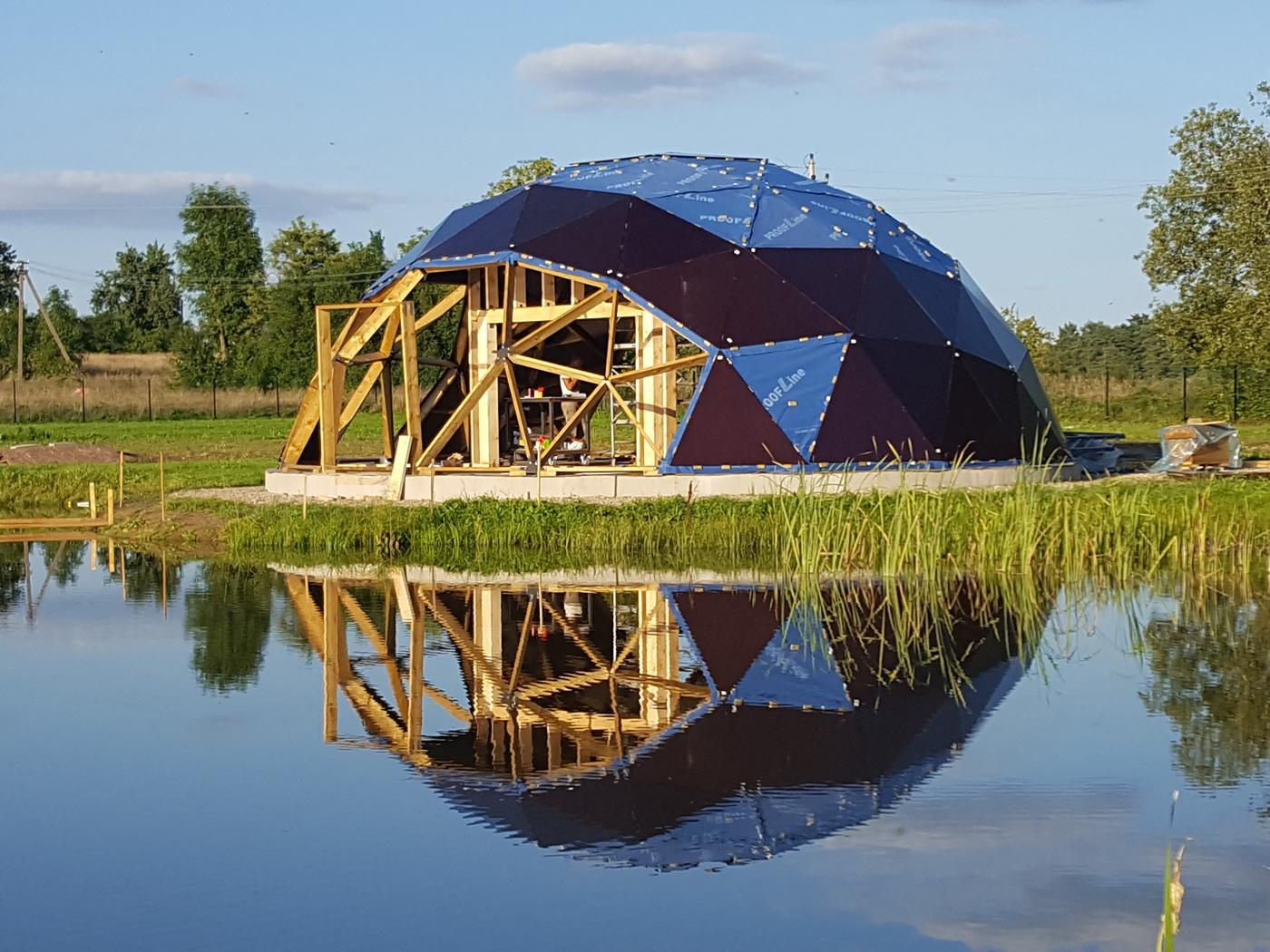 Ūkio sodyba, Svečių namas su pirtimi 125m2 Kupolas Ø12m , Širvintai