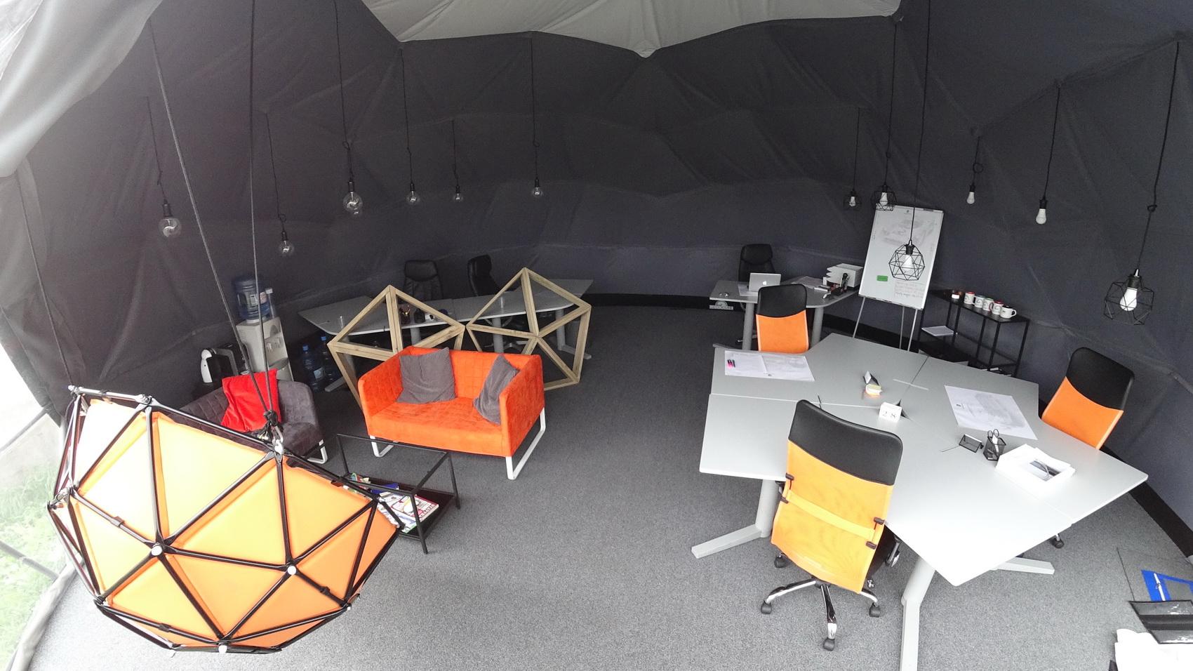Kupolinių konstrukcijų mobili biuro studia 50m2 | Vilnius, Lithuania