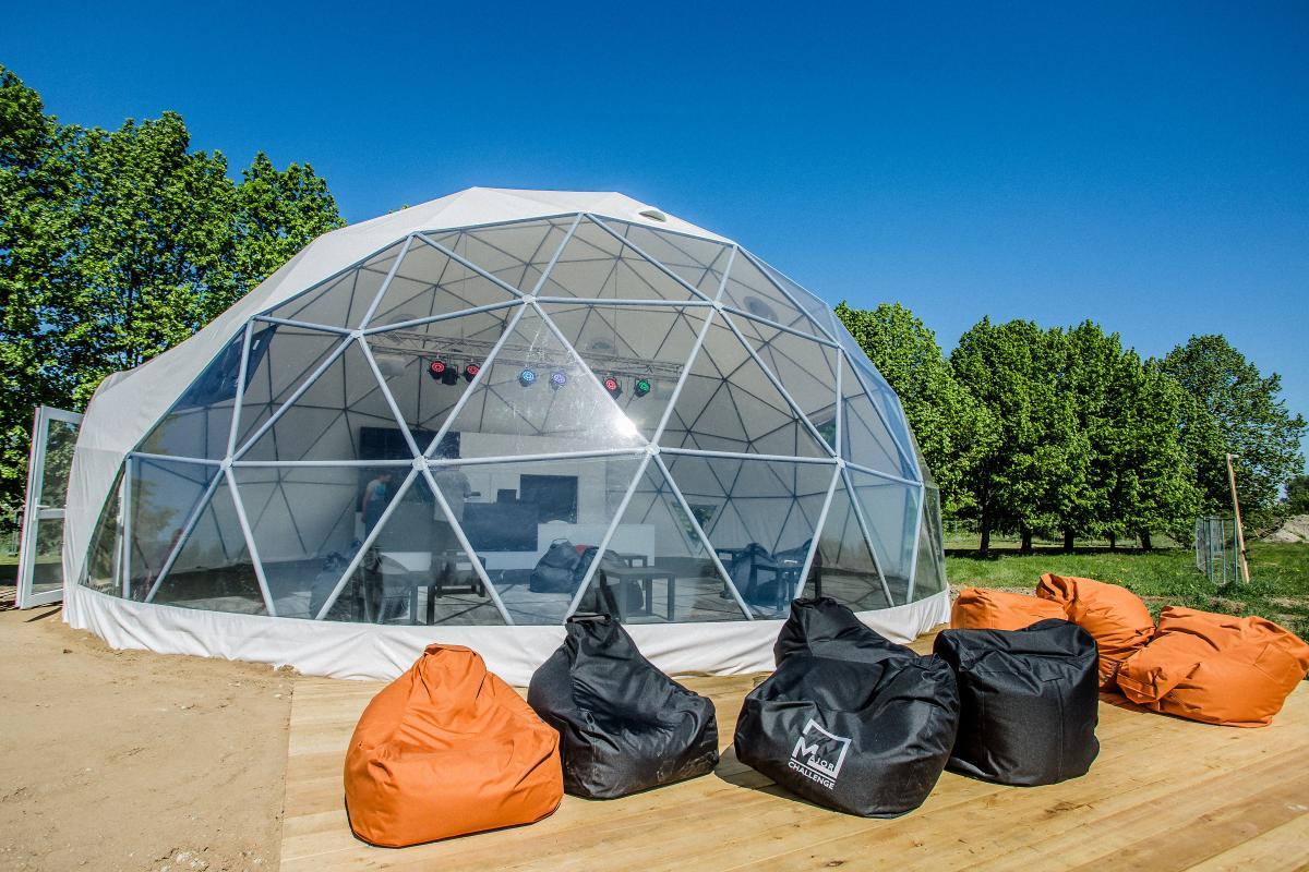 Ø11m F4 Dome 95m2 – Major bagių trasa | Kaunas
