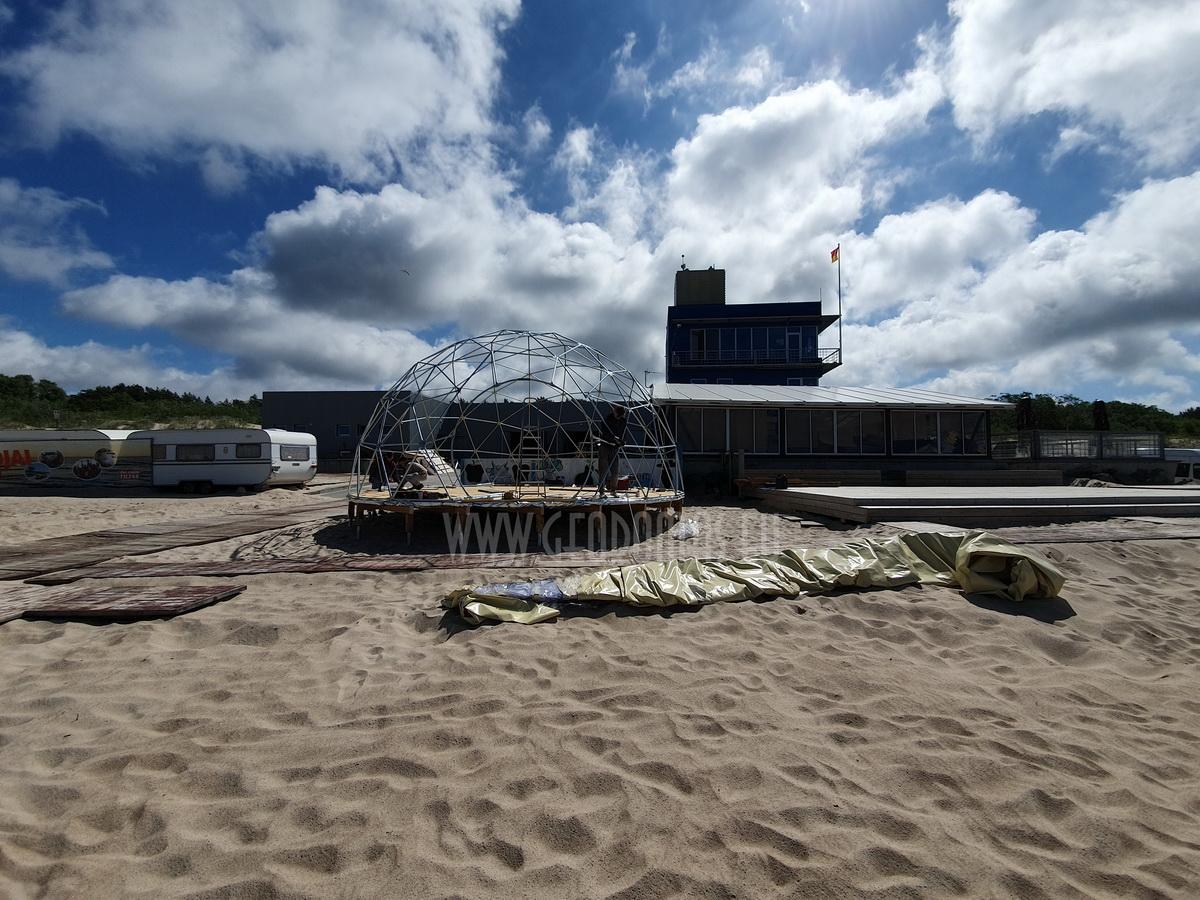 Ø8m F4 H4m Poilsio Kupolas | Palangos centrinė gelbėjimo stotis, Lietuva