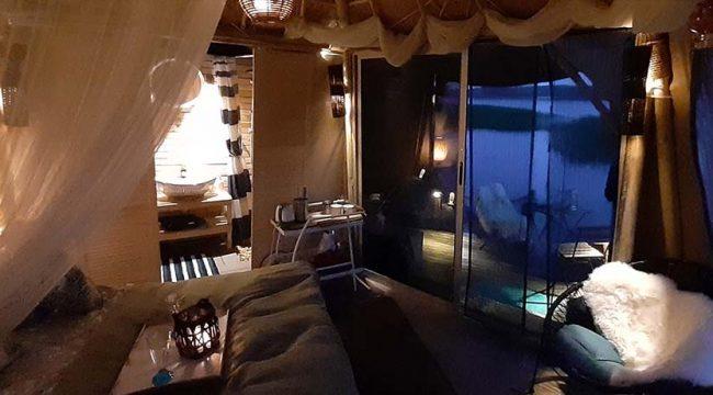 Plaukiantis viešbutis atviroje gamtoje 27m2 | Glamping kupolas, Baltieji Lakajai.