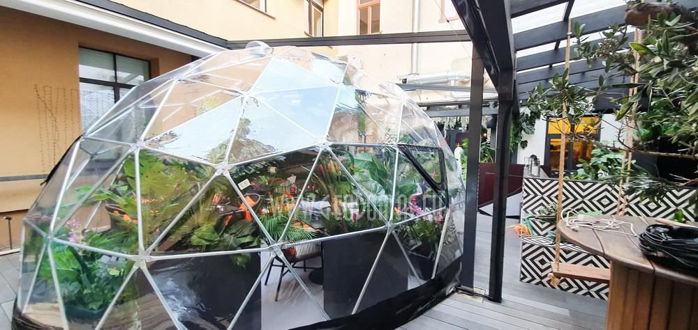 Ø7m Hybrid Dome 32m2 @ Žiemos Sodas – Spritz Summer Garden, Vilnius