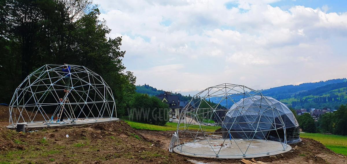 Glamp Royal poilsiavietė – Zakopanė, Lenkija | Kupolai 35m² Ø6,7m