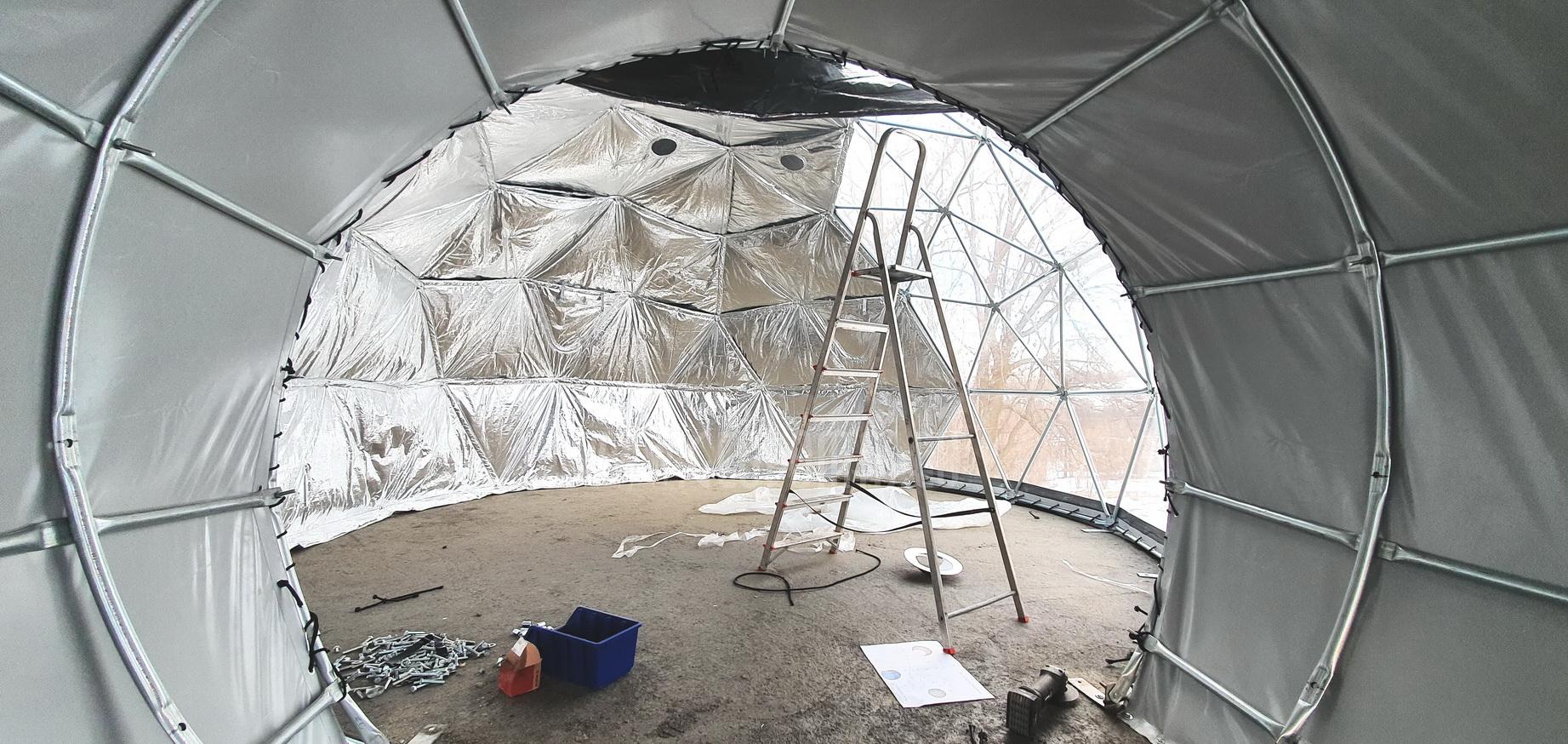 35m²+ 20m² Glamping SPA Kupolai Ø6,7m & Ø5m | Zakopane, Lenkija