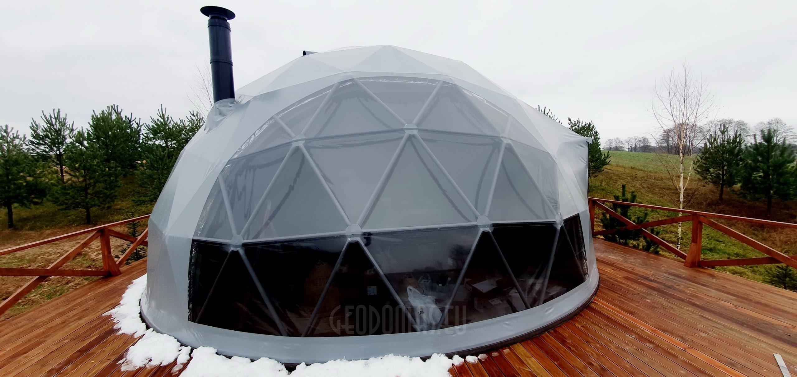 50m² Glamping kupolas Ø8m   Kaimo turizmas, Alovės ežeras