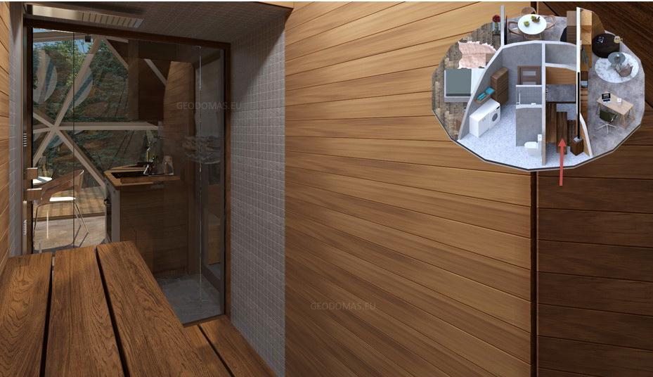 50m2 Gyvenamasis namas Ø8m LOW Edition | Kupolo statybos komplektas