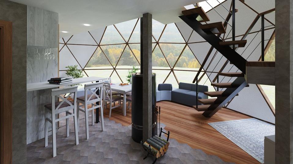 75m2 Šeimos gyvenamasis namas Ø8m Aukštis 5,8m
