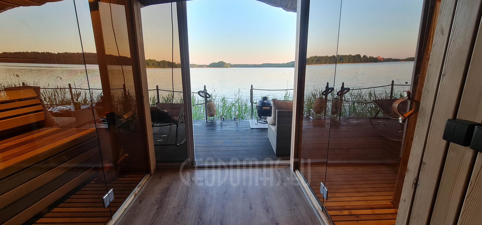27m² Pramoginis Glamping laivas Ø7m | Pasimėgaukite ežerų ir jų salų grožiu