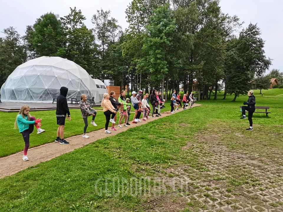 Ø12m Glamping Kupolas Šventėms 113m2 | Alaušo Slėnis, Lietuva